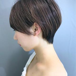 簡単スタイリング 黒髪 ショートボブ ショートヘア ヘアスタイルや髪型の写真・画像