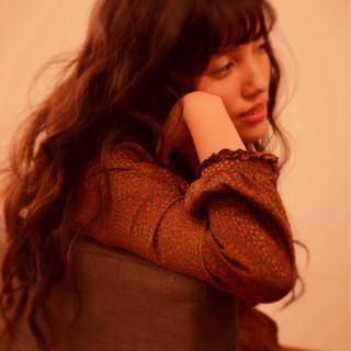 フェミニン ガーリー 外国人風 ロング ヘアスタイルや髪型の写真・画像