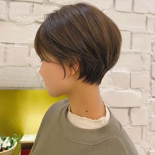 ショートヘア ナチュラル 丸みショート ショートボブ ヘアスタイルや髪型の写真・画像