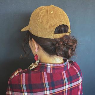 ヘアアレンジ セミロング イルミナカラー ガーリー ヘアスタイルや髪型の写真・画像 ヘアスタイルや髪型の写真・画像