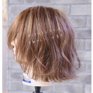 ボブ デート フェミニン ゆるふわ ヘアスタイルや髪型の写真・画像