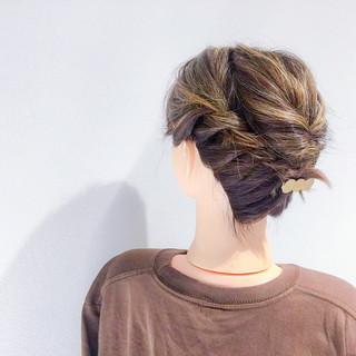 簡単ヘアアレンジ デート ボブ 結婚式 ヘアスタイルや髪型の写真・画像