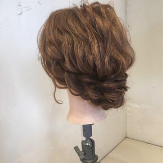結婚式 ナチュラル ヘアアレンジ ゆるふわ ヘアスタイルや髪型の写真・画像