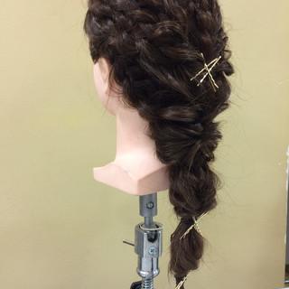 ヘアアレンジ ヘアピン ヘアアクセ ロング ヘアスタイルや髪型の写真・画像 ヘアスタイルや髪型の写真・画像