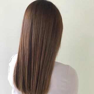 ロング 艶髪 デート オフィス ヘアスタイルや髪型の写真・画像