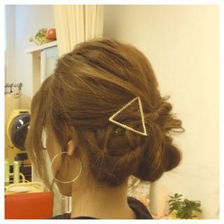 フェミニン ショート ゆるふわ 簡単ヘアアレンジ ヘアスタイルや髪型の写真・画像 ヘアスタイルや髪型の写真・画像