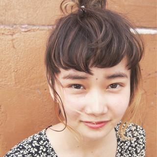 簡単ヘアアレンジ ショート 前髪あり ヘアアレンジ ヘアスタイルや髪型の写真・画像 ヘアスタイルや髪型の写真・画像