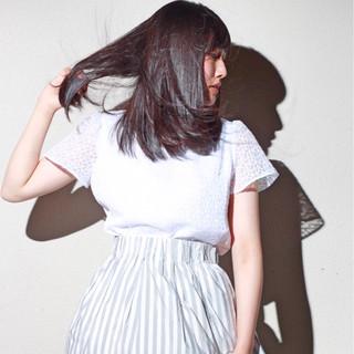 フェミニン リラックス ロブ 女子会 ヘアスタイルや髪型の写真・画像