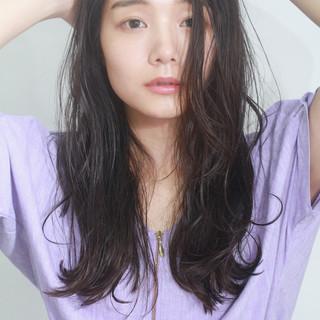 ナチュラル 無造作ヘア 簡単ヘアアレンジ セミロング ヘアスタイルや髪型の写真・画像
