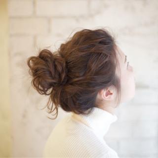 ヘアアレンジ 大人かわいい セミロング ショート ヘアスタイルや髪型の写真・画像