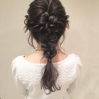 デート 結婚式 ロング 大人かわいい ヘアスタイルや髪型の写真・画像