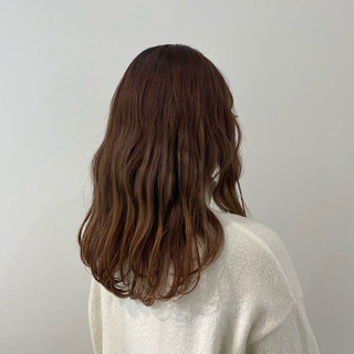 無造作パーマ ダブルカラー モード ゆるふわパーマ ヘアスタイルや髪型の写真・画像