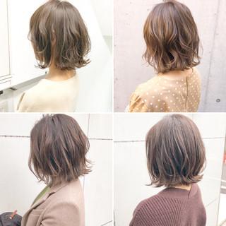 パーマ デート ボブ アンニュイほつれヘア ヘアスタイルや髪型の写真・画像