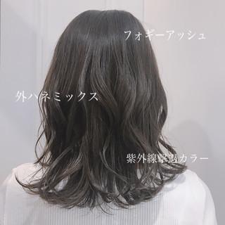 セミロング モテ髪 デート かわいい ヘアスタイルや髪型の写真・画像