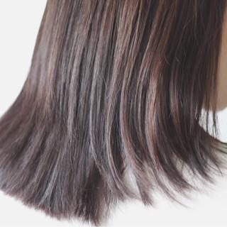セミロング 冬 ショコラブラウン 外国人風 ヘアスタイルや髪型の写真・画像 ヘアスタイルや髪型の写真・画像