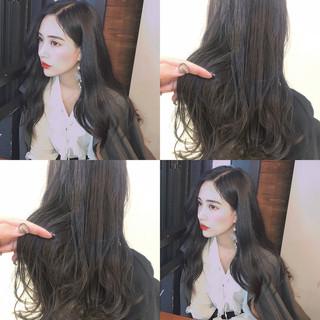 ヘアアレンジ 韓国ヘア 簡単ヘアアレンジ ロング ヘアスタイルや髪型の写真・画像