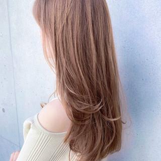 デジタルパーマ ナチュラル可愛い レイヤーロングヘア 大人可愛い ヘアスタイルや髪型の写真・画像