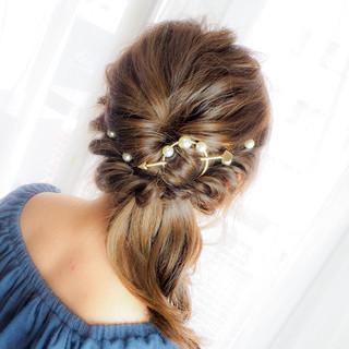 ショート ロング 外国人風 ヘアアレンジ ヘアスタイルや髪型の写真・画像