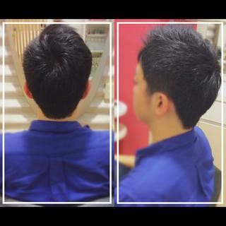 黒髪 ショート ショートヘア メンズ ヘアスタイルや髪型の写真・画像