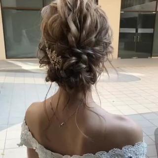 大人かわいい セミロング おしゃれさんと繋がりたい 結婚式ヘアアレンジ ヘアスタイルや髪型の写真・画像