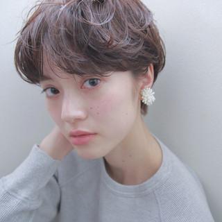 マッシュ ショート 透明感 ナチュラル ヘアスタイルや髪型の写真・画像 ヘアスタイルや髪型の写真・画像