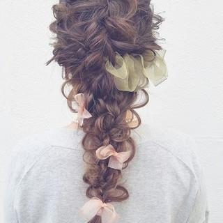 ロング 外国人風 簡単ヘアアレンジ ショート ヘアスタイルや髪型の写真・画像