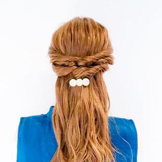 フェミニン ヘアアレンジ ショート ロング ヘアスタイルや髪型の写真・画像