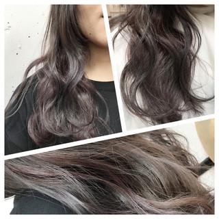 ベージュ ロング パープル ピンク ヘアスタイルや髪型の写真・画像 ヘアスタイルや髪型の写真・画像