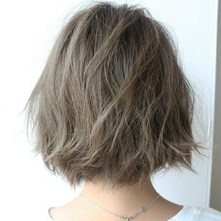 ボブ 透明感 ストリート 女子会 ヘアスタイルや髪型の写真・画像
