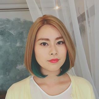 グラデーションカラー インナーカラー 外国人風 モード ヘアスタイルや髪型の写真・画像