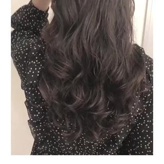 デジタルパーマ ナチュラル グレージュ ゆるふわパーマ ヘアスタイルや髪型の写真・画像