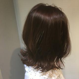 ミディアム 大学生 韓国 バイオレットアッシュ ヘアスタイルや髪型の写真・画像