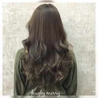 ハイライト ガーリー グラデーションカラー セミロング ヘアスタイルや髪型の写真・画像