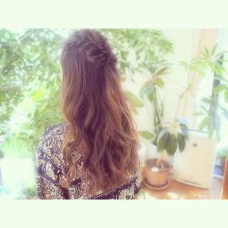 ナチュラル ヘアアレンジ ロング 外国人風 ヘアスタイルや髪型の写真・画像