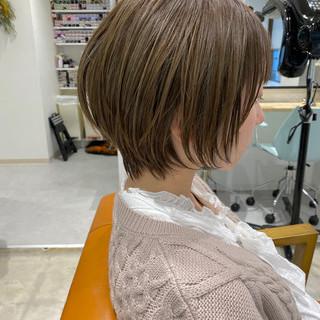 ショート ミニボブ 小顔ショート ショートヘア ヘアスタイルや髪型の写真・画像