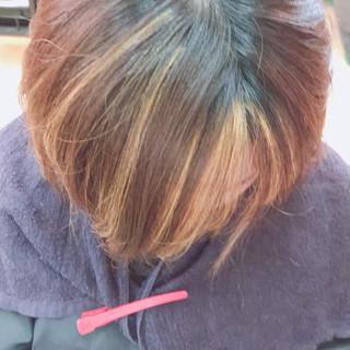 ブリーチ イメチェン モード インナーカラー ヘアスタイルや髪型の写真・画像
