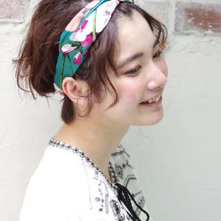 夏 ガーリー キュート ヘアアレンジ ヘアスタイルや髪型の写真・画像