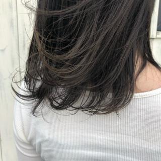 透明感カラー ナチュラル 暗髪 透明感 ヘアスタイルや髪型の写真・画像