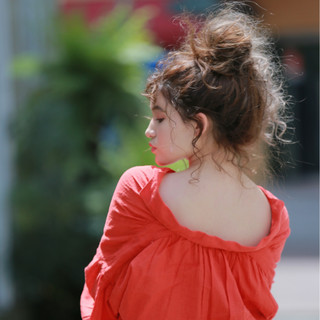 ヘアアレンジ 女子会 リラックス ナチュラル ヘアスタイルや髪型の写真・画像
