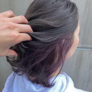 モード パーティ ヘアアレンジ ミディアム ヘアスタイルや髪型の写真・画像