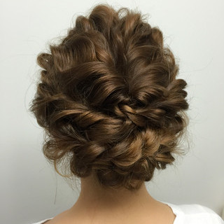 簡単ヘアアレンジ ロング パーティ ヘアアレンジ ヘアスタイルや髪型の写真・画像