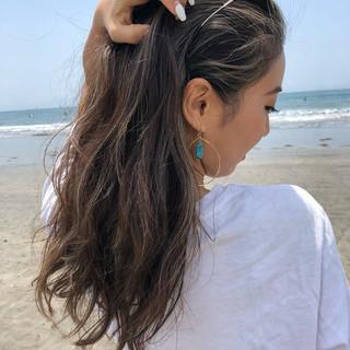 ヘアアレンジ ナチュラル ロング デート ヘアスタイルや髪型の写真・画像