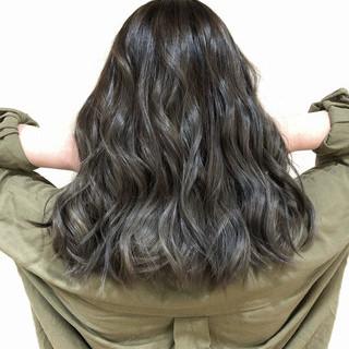 フェミニン 外国人風カラー バレイヤージュ セミロング ヘアスタイルや髪型の写真・画像