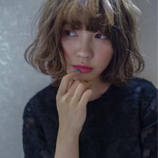 フェミニン ボブ グラデーションカラー ガーリー ヘアスタイルや髪型の写真・画像