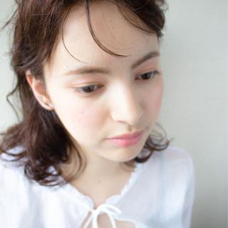 ミディアム 外国人風 大人かわいい ゆるふわ ヘアスタイルや髪型の写真・画像
