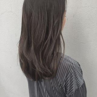 ストリート 透明感 外国人風 セミロング ヘアスタイルや髪型の写真・画像