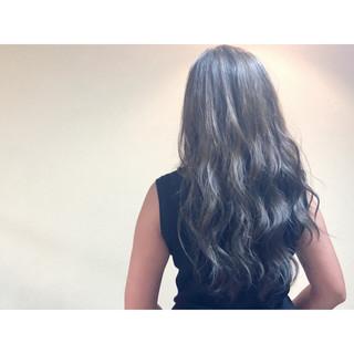 ロング 春 ハイライト グレージュ ヘアスタイルや髪型の写真・画像