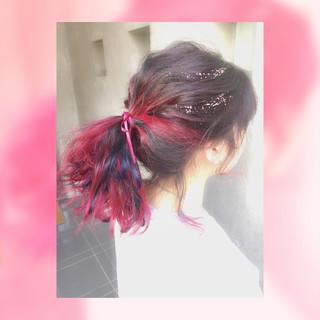 ヘアアレンジ 簡単ヘアアレンジ グラデーションカラー ゆるふわ ヘアスタイルや髪型の写真・画像 ヘアスタイルや髪型の写真・画像