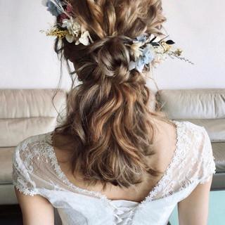おしゃれさんと繋がりたい ガーリー セミロング ヘアアレンジ ヘアスタイルや髪型の写真・画像