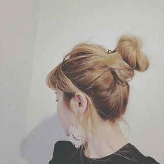 グラデーションカラー ポニーテール ナチュラル ショート ヘアスタイルや髪型の写真・画像